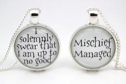 Wholesale 10pcs Harry Potter Mischief Managed Necklaces glass cabochon necklace