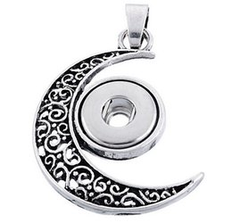 Wholesale Antique silver Noosa Pendant Assorted Style Necklace chunks snap button jewelry DIY Necklace Snap Button Bracelet Interchangable Jewelry