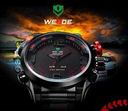Wholesale New Men s Watch Fashion Casual Watches Men Luxury Brand WEIDE Led Digit Watch Quartz Relogio Masculino Military Reloj Clock