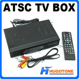 Wholesale Newest ATSC TV BOX Full HD Digital Receiver P Video HDMI Out Converter BOX for Mexico USA Canada