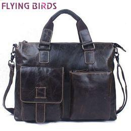 Flying birds! men's travel bags for men messenger bags genuine leather bag high quality famous brands bag for Men LM1053fb