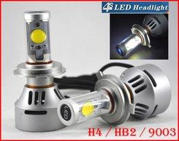 Promotion double t5 1 Set H4 HB2 9003 72W 7000LM CREE Auto LED phare du système Kit Hi / Low double 4S faisceau AMÉLIORÉS MTG2 CHIP Xenon Blanc 12 / 24V 5 Couleur modifiable
