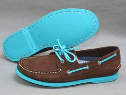 Wholesale Sperrys Men Boat Shoes Men s Flats Genuine Leather Handmade Sperry Top Sider Boat Shoes Men