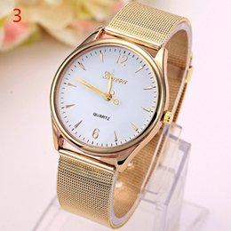 Wholesale Best Gold Watch For Men Womens Business Stainless Steel Mesh Strap Ladies Mens Golden Quartz Watch Waterproof Colors Wrist Watches Orologi