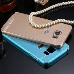 Wholesale For Samsung Note Metal Cases Luxury Aluminum Frame Arcylic Panel Back Case For Samsung Galaxy Note N9200 Slim Phone Cover