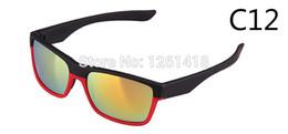 Promotion choix de sports Lunettes de soleil réfléchissantes nouveau style de deux UV400 face mode sport unisexe 12 couleurs acétate de choix des lunettes à la mode gros-2015