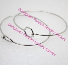 Panpan 316L Stainless steel silver bangles bracelet