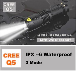 Wholesale Hot selling UK USA High quality Mini Black CREE LM Waterproof LED Flashlight Modes Zoomable LED Torch penlight