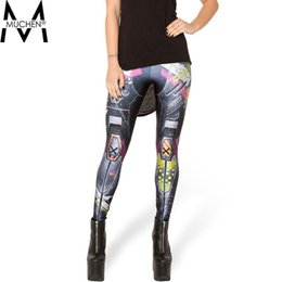 Wholesale MUCHEN Top Sale Women Hot Leggings Digital Print Machinery Fitness Sexy LEGGING Drop Shipping S106