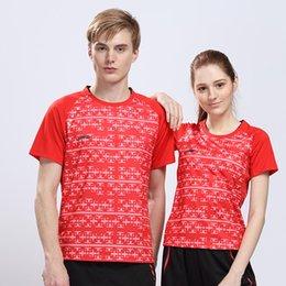 Wholesale Li Ning All England Open Badminton Game China s Team Shirt Men Women Badminton cool sports Shirt No quot CHINA