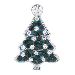 NSB2390 Hot Sale Snap Jewelry Button For Bracelet Necklace 2015 Fashion DIY Jewelry Crystal Christmas Tree Design Alloy Snaps