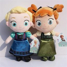 Wholesale Frozen childhood Plush Elsa Anna Soft plush Toy baby Stuffed dolls cute Children giftsGirls great as gift