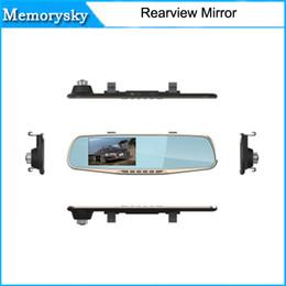 Cámaras de lentes de porcelana en Línea-4.3 pulgadas 1080p dual de la lente del coche DVR de dos cámara Full HD 120 Ángulo de visión de la cámara trasera Separado Gsensor espejo HD DVR de la venta caliente 010226