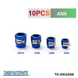 Wholesale TANSKY Universal AN6 mm Straight Aluminum Turbo Hose End Clamp Finisher Fitting have in stock TK OKUAN6