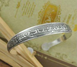 Antalya Bangle,Antique Silver-plate arabic letters Carve Pattern Statement, Boho Coachella, Festival Turkish totem jewelry ,Tribal Ethnic
