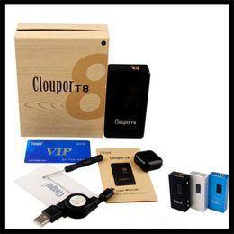Authentic Cloupor double 18650 Battery Box Mod Cloupor T8 150W T6 T5 Cloupor Mini 30W Eleaf iStick 10W 20W 30W 50W Box Vaporisateur à partir de double t5 fabricateur