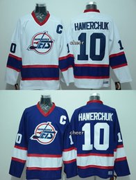 Wholesale 2015 Men s Winnipeg jets hawerchuk white blue Throwback Jersey Ice Hockey Jerseys Best Quality Low Price