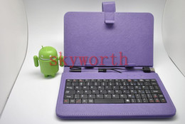 Wholesale USB Keyboard Leather Case For Tablet PC Android Allwinner A13 Q88 A33 Google Nexus Galaxy tab S