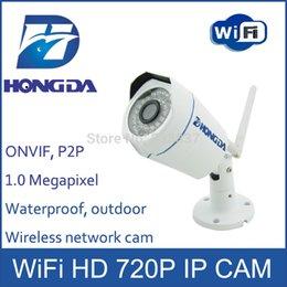 Mini cámaras wi fi en Línea-Hongda Wi Fi cámara de seguridad IP de mini al aire libre HD 720P lente 3.6mm leva red wirless visión nocturna 25M P2P ONVIF Detección de movimiento