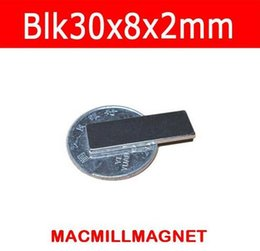 2016 New 10pcs N35 Strong Block super powerful magnet 30x8x2mm Magnet Rare Earth Neodymium, Free Shipping