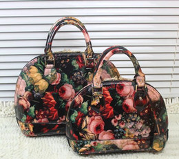2016 New Arrival Top Quality Smooth And Floral Print women designers handbags Wholesale And Retail Free shipping  VK1315A