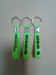 High Quality Screen Print Rubber Silicone Wristband Keychain For Events P101704