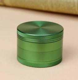 Wholesale Green Metal Grinder mm Aluminium Herb Grinder parts Smoking Grinders Tobacco Grinder LR012 D