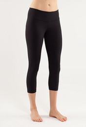 Wholesale Women Yoga Crops Tights Black Yoga Pants Leggings Crop Athletic Pants Reversible NWT SZ