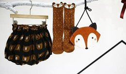 Wholesale HOT Kids Lovely D Fox socks Baby Boy Girl Leg Warmer stockings suitable for Y Cotton Animal image UPS free ship MOQ pairs