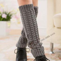 Wholesale-5pairs lot Winter warm women boot socks knitting leg warmer ladies boot cuffs free shipping