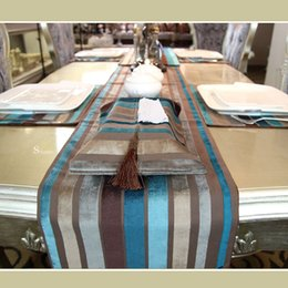 Wholesale Barcelona Symphony multicolor European neo classical dining table runner table cloth flag luxurious bed mat