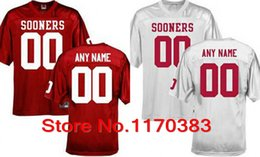 Wholesale Factory Outlet Custom stitched Football Jersey Personalized Oklahoma Sooners Jersey College Football Jersey Color Red White