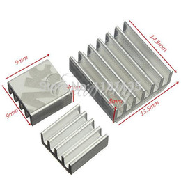 Wholesale 10set Adhesive Aluminum Heatsink Radiator Cooler Kit For Cooling Raspberry Pi New Heat Sink Fans