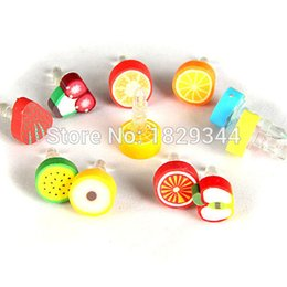 Wholesale New Design Cute Fruit Anti Dust Plug for Iphone and mm Earphone Cap for Mobile Phone
