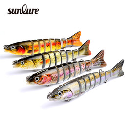 Wholesale 4pc New Sunlure Sections Fishing Lure cm g Swimbait Fishing bait VMC Hook Fishing Tackle