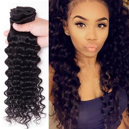 4 Bundle Deep Wave Queen Hair Products Human Hair Extension 6A Brazilian Virgin Hair Deep Wave Peruvian Hair Weave Bundles Total 400g