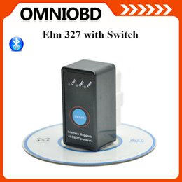 Wholesale Hottest selling Super Mini Elm327 Bluetooth OBD II OBD Can with Power Switch ELM OBD2 Diagnostic interface with Switch