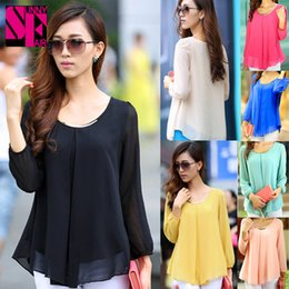 Wholesale Chiffon Blouses New Fashion Summer Casual Women Clothing Sequins Loose Fit Ruffle Hem Shirts Women Tops Elegant Pleated Shirts