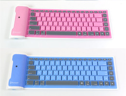 New Folding Flexible Mini Bluetooth Wireless Keyboard for iphone iPad-Android Tablet silicone