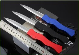 Wholesale MICROTECH American micro technology halo D2 steel cutter with CNC computer gongs line cutting Very sharp tactical knife boxes