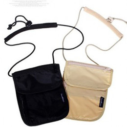 Promotion sécurité facile 50PCS Multifonctions Sécurité Neck Pouch Travel Neck Portefeuille Passing Pass Holder facile à transporter Nouveau Style