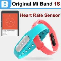 Wholesale 100 Original Xiaomi Mi Band s New s1 Bracelet Pro with Heart Rate Bit Meter Sensor IP67 Waterproof Work in Android ios