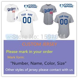 Wholesale 30 Teams Full Roster Player Custom Los Angeles Men Sewn Embroidered Dodgers Logos Personalized Baseball Jersey Size M XL