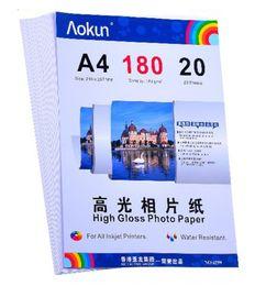 Impresoras de inyección de tinta gratis en Línea-Expreso gratuito A4 (210 * 297 mm) 180g 20 hojas de papel fotográfico de alto brillo impermeable Papel fotográfico Papel tinta, Por una variedad de impresoras de inyección de tinta