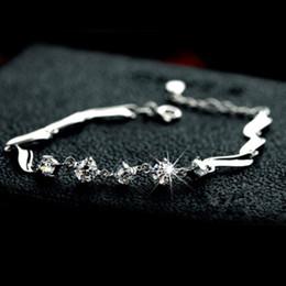 Wholesale Guardian sterling silver bracelet female cute simple Zircon hypoallergenic jewelry gift European and American popular Valentine s