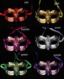 100pcs lot mix colors Fashion mask gold shining plated party mask wedding props masquerade mardi gras mask