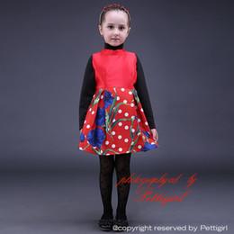 Pettigirl Latest Red Flower Girls Dresses Polka Dot Girl Autumn Dress Adorable Baby Child Wear For Sale GD80928-12