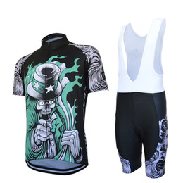 Wholesale-High Quality Skull Cycle Jerseys  Breathable Racing Bicycle Jersey Cycling Clothes  Quick-Dry Lycra GEL Pad Race Bike Bib Pants