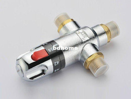 Wholesale temperature mixing valve solar water heater valve parts thermostatic mixer shower tap BSP quot Brass thermostatic valve