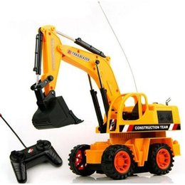 Wholesale Rc Excavator Multi function Radio Remote Control Truck Kids Sandy beach Toys